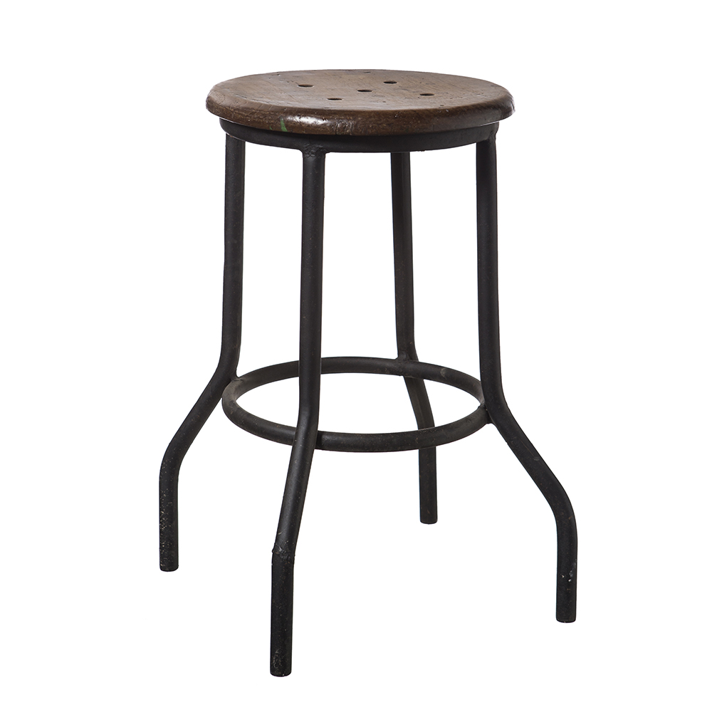 Black Iron Stool India And Pacific